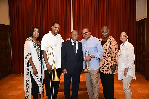 Grammy and Pulitzer Prize-winning trumpeter and composer, Wynton Marsalis performed with the Jazz Houston Orchestra on Thursday, May 24, 2018, ...