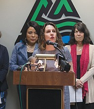 Mulnomah County Chair Deborah Kafoury announces the county is suing the Trump Administration over changes to federal grants for sex education that now privilege abstinence-only programs.