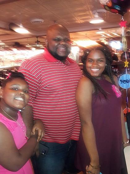 """Andre """"DJ Bear"""" Garner Daughters – Aliah, 9, and, Andrea, 15"""