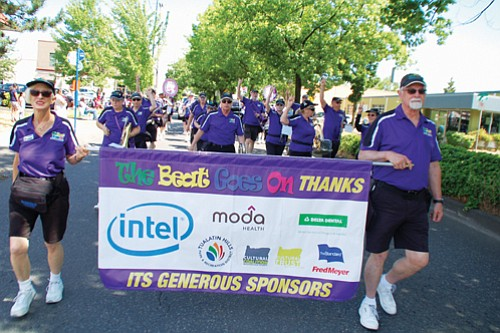 The Beat Goes On march band floods the streets with music.