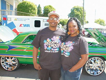 Good in the Hood organizers Shawn Penny (left) and Angie Harris.
