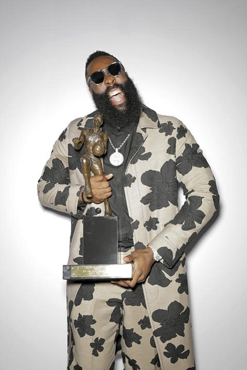 During tonight's NBA Awards on TNT, Houston Rockets guard James Harden was named NBA Most Valuable Player for the 2017-18 ...