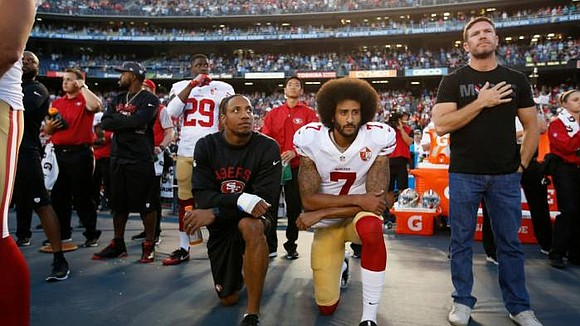 NFL Quarterback Colin Kaepernick, 32, hasn't played in the NFL since the 2016 season. He was blackballed by the NFL ...