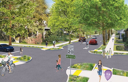 Portland Bureau of Transportation has released design concepts for two route options for the Lloyd to Woodlawn Greenway: Northeast Seventh ...