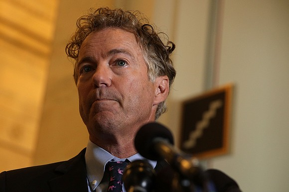 Sen. Rand Paul on Monday invited Russian lawmakers to Washington after meeting Russian members of parliament in Moscow.