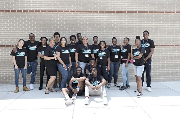 Camp Impact participants pose for a photo during the second week of the camp. Camp Impact was a five-week camp ...