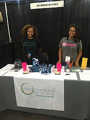 Teacher Lanetra Diaz (Left) & Author Brittany A. Daniel M.A. LPC (Right) spotted at the 2018 Houston Black Heritage Festival