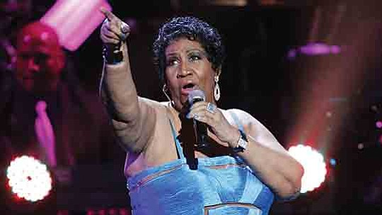 Fans gathered this morning at Hollywood Walk of Fame star of Aretha Franklin, 6920 HollywoodBlvd...
