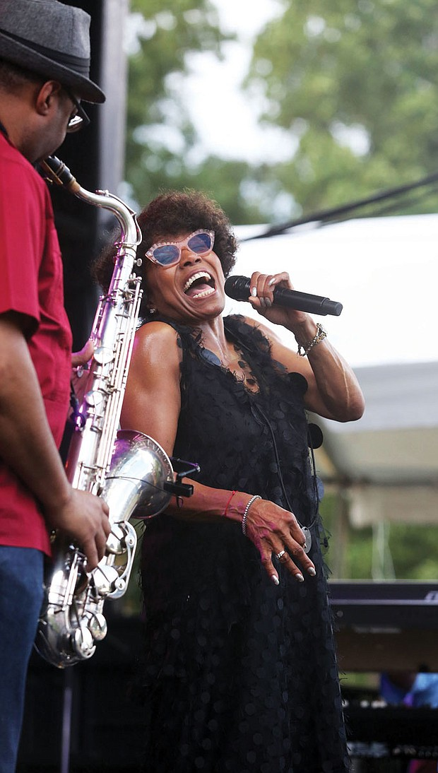 The 9th Annual Richmond Jazz Festival at Maymont last weekend. On Saturday, Dee Dee Bridgewater & the Memphis Soulphony hit the high notes.