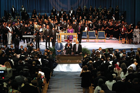 "The ""Queen of Soul"" Aretha Franklin was remembered and celebrated in a star-studded marathon funeral service last Friday that drew ..."