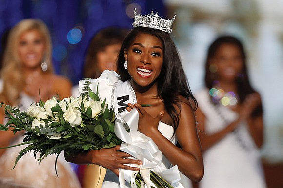 There she is, Miss America. And Nia Imani Franklin, who won the coveted title Sunday night in Atlantic City while ...
