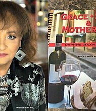 """(Left) Actress Daphne Maxwell-Reid played """"Aunt Viv"""" in the smash 1990s hit comedy, """"The Fresh Prince of Bel Air."""" (Right) Her latest project is a cookbook entitled, """"Grace, Soul and Mother Wit: A Cookbook Spiced with Personal Memories,"""" which is available for sale at: http://www.daphnemaxwellreid.com/."""