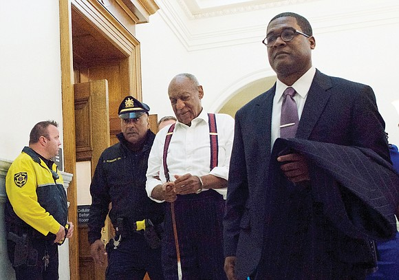 """""""America's Dad"""" Bill Cosby was marched out of court in shackles Tuesday after a judge branded him a """"sexually violent ..."""