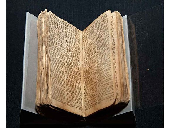 Mark Person, whose family donated Nat Turner's Bible to the National Museum of African American History and Culture in Washington, ...