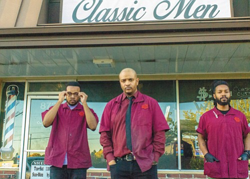Classic Men in southwest Portland is a barbershop that brings a retro flavor to getting your hair cut. Taryn Jones (left), owner Franklin Whatley, and Ahmad Lewis use a relaxing, yet fun and camaraderie-filled atmosphere to service men getting modern and classic 'dos.