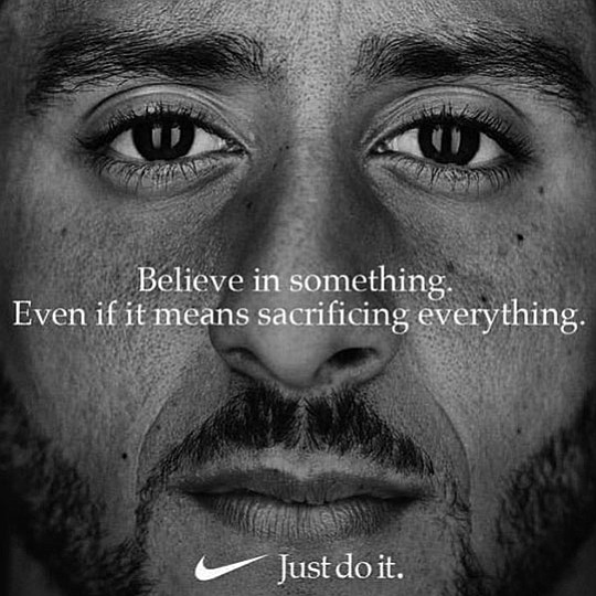"""Three weeks after Nike launched its 30th anniversary """"Just Do It"""" ad campaign, focused around.."""