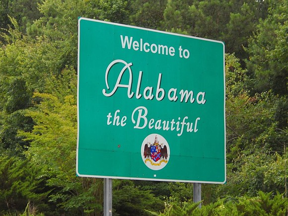 When you drive into Alabama, there is a big sign that says...