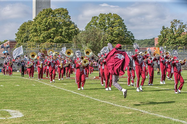 VUU Ambassadors of Sound Marching Band at the Virginia Union University 2018 Homecoming