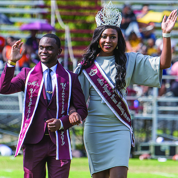 Mr. and Miss VUU, Travon Duncan and Trinity Gaskins