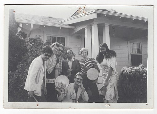 Ela at Carol Yarrow's House. From left: Nick Gefroh, William Thomas, Richard Burdell, Lester McFarland, Scott Wardinsky, Al Nohlgren, Janice Scroggins.