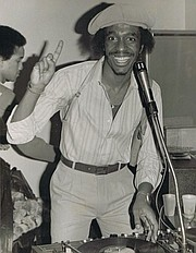 J.W. Friday DJing a teen dance in the 1970s.