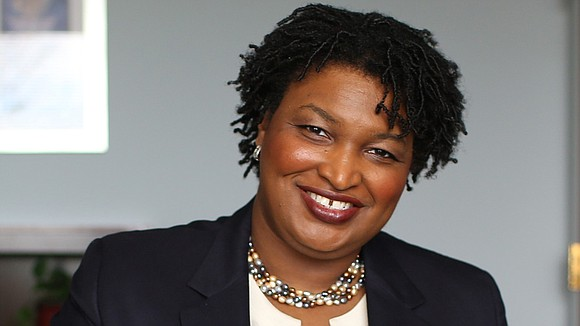 U.S. voting rights activist Stacey Abrams...