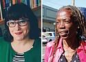 Portland City Commissioner Chloe Eudaly (left) and Portland City Commissioner Jo Ann Hardesty (right).