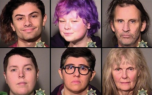 A series of protests Saturday resulted in a mostly peaceful separation of right-wing and counter-protesting left-wing demonstrators by Portland police, ...