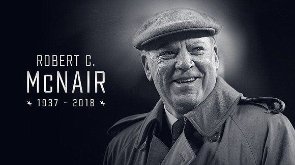 Houston Texans Founder, Senior Chairman and Chief Executive Officer Robert C. McNair passed away on Friday, November 23, 2018 at ...
