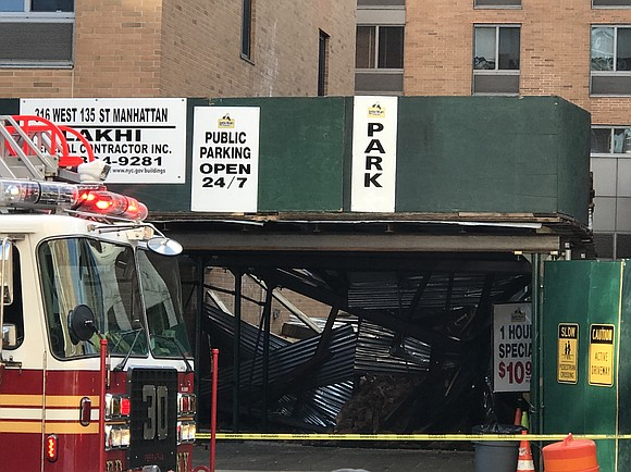 The FDNY reports that a church in Harlem has collapsed leaving a worker injured and trapped.