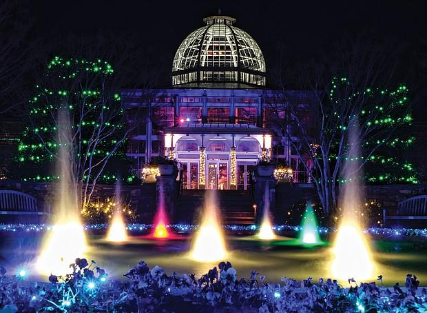 Lewis Ginter GardenFest of Lights (Sandra Sellars/Richmond Free Press)