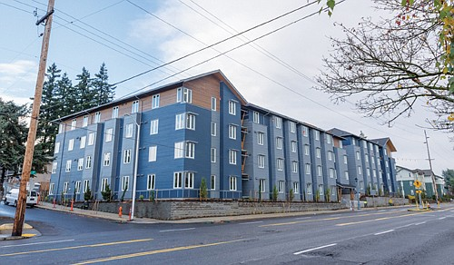 Hazel Heights is a new affordable housing complex that will be home to 153 households on Southeast Stark Street at 126th Avenue.