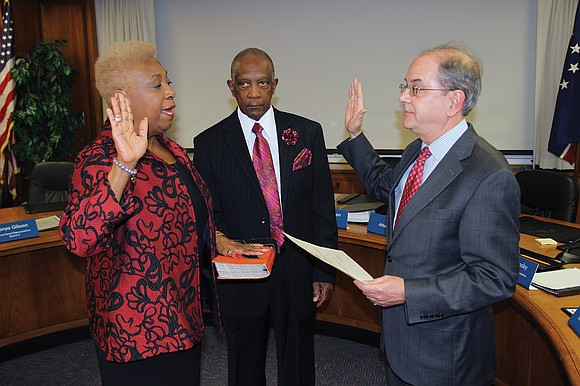 Retired elementary school principal Cheryl L. Burke was sworn in Tuesday as the official 7th District representative on the Richmond ...