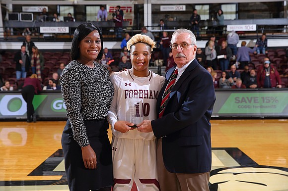 Fordham University women's basketball coach Stephanie Gaitley is pleased with how the Rams have played thus far this season.