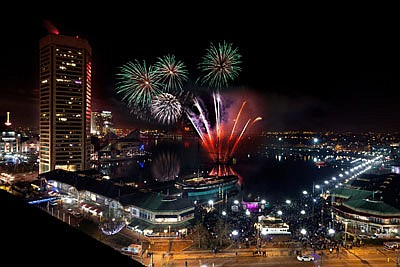 Ring in the New Year with live music and a spectacular fireworks show at Baltimore's Inner Harbor.