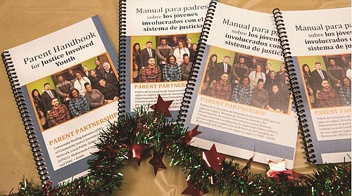 A 48-page handbook for parents with children in the criminal justice system offers tips on everything from visiting hours at the Donald E. Long Detention Center to a glossary of common justice terms to tips for court appearances and important contacts for parents.