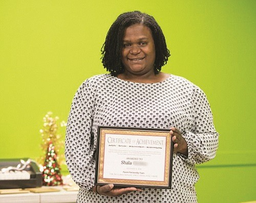 Shala, a single mother of four, helped craft the Parent Handbook.