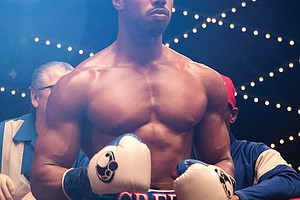 "Michael B. Jordan as Adonis Creed in the movie ""Creed II."""