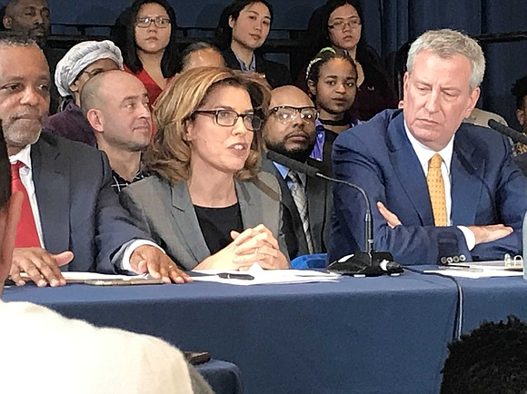 Elected officials and community leaders came together for a news conference at the Schomburg Center in Harlem Wednesday to announce ...