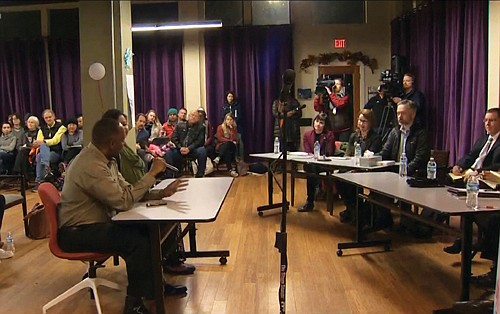 Oregon Attorney General Ellen Rosenblum hosts a forum in north Portland to better understand the rise in hate crimes.  (KGW photo)