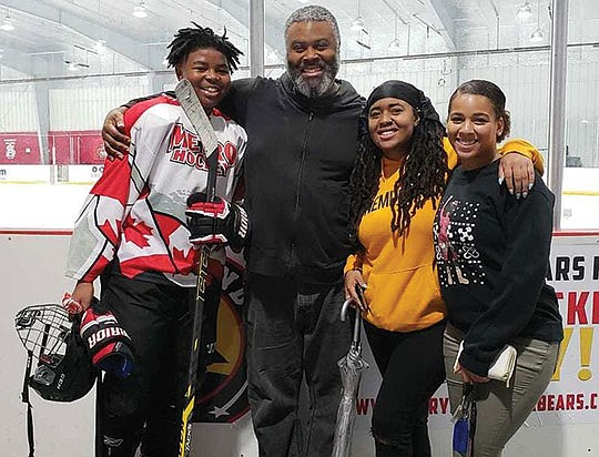 Divyne Apollon II, a 13-year-old African-American hockey player, was playing in a recent tournament in..