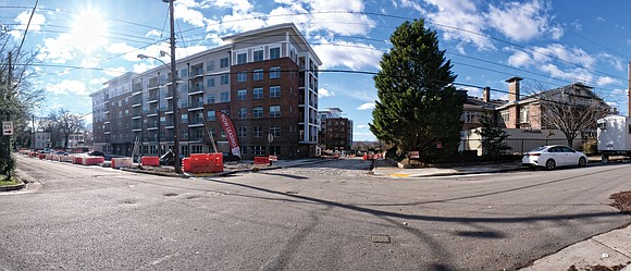 New apartments are taking shape on the hilltop in Fulton in the city's East End.