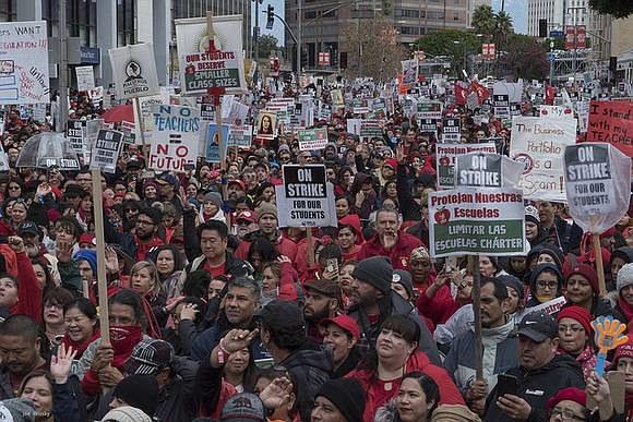 The union for the second largest school system in the United States went on strike Monday.