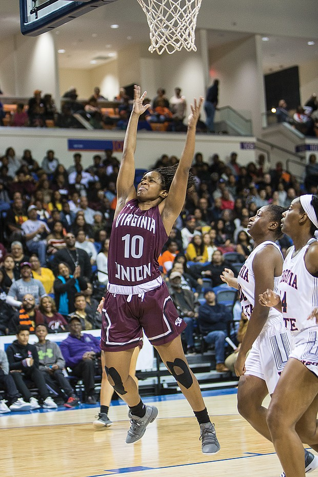 Virginia Union University's Rejoice Spivey is the Lady Panthers' all-time assists leader.