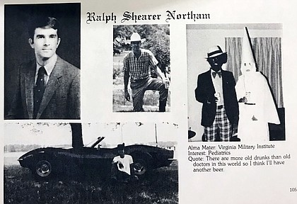 Virginia Gov. Ralph Northam's medical school yearbook in 1984 features a racist photo