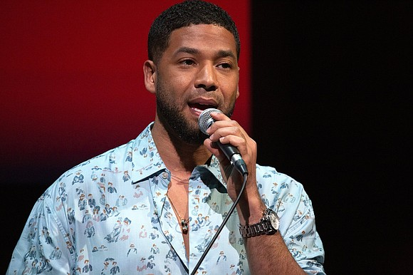 Actor and Musician Jussie Smollett performed at his first show since his reported attack, tearfully telling fans at the event ...