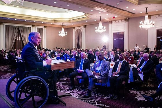 Governor Greg Abbott today delivered a State of the State address at the Houston Business Coalition and C Club Luncheon ...