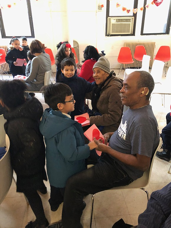 Nearly two dozen local kindergarteners made a special Valentine's Day visit to senior citizens at the Carter Burden/Leonard Covello Senior ...