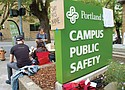 An archive photo from the Portland Observer shows students occupying Portland State University's Campus Public Safety office following the 2019 campus officer-involved shooting death of Jason Washington. In a new commitment to innovation, PSU has announced that it will start patrolling campus unarmed by Sept. 1.