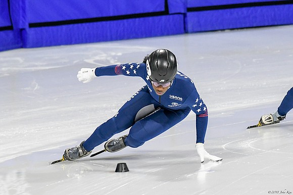 It has been a great year for short track speed skater Maame Biney.